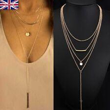 Fashion Gold Jewelry Choker Chunky Statement Bib Pendant Chain Charm Necklace