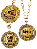 Worlds Greatest Teacher Winner Award Medal Novelty Party Prop