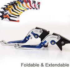 Folding Extend Brake Clutch Levers For Yamaha MT-125 Euro version 2014-2015 blue