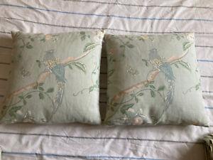 "Laura Ashley Summer Palace Eau de nil Cushions 15"""