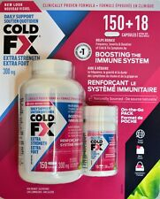 COLD-FX Extra 168 Capsules Flu Drug Naturally Sourced Non-Drowsy Immunity Boost