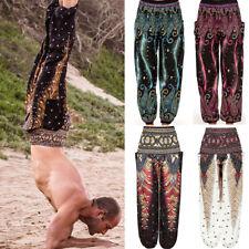 Mens Harem Pants hippie cargo Trousers Boho cotton Thai yoga unisex Hippy Beach