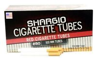 Shargio Red Full Flavor 100MM 100s - 5 Boxes - 250 Tubes Box Tobacco Cigarette