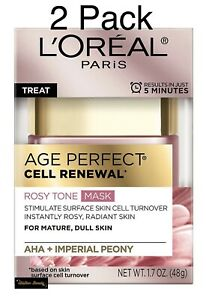L'Oreal Paris Skincare Age Perfect Cell Renewal Rosy Tone Face Mask 1.7oz-2 Pack