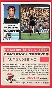 FIGURINA CALCIATORI PANINI 1972/73 - NUOVA - N.227 CARMIGNANI - NAPOLI