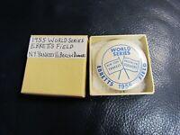 1955 World Series Pinback Pin New York Yankees Brooklyn Dodgers