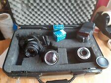 Yashica 200-AF Camera, 35-70mm + Flash & 2 + Power Zoom 28-70mm & 70-210 & Case