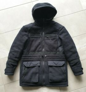 Asos fleece jacket hoodie coat Jacket XS S black uniqlo engineered garments U