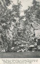 Great Falls VA * Geo. Washington Canal Lock ca 1910 * W.&O. D. R.R.