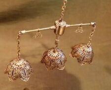 Dollhouse Miniature Chandelier Brass Enamel