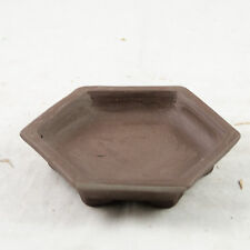 "Hexagon Zisha Humidity/Drip Tray for Bonsai Tree - 4.75""x 4.75""x 0.75"""