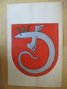 Wappen - handgemalt - Ahlen
