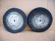 2x Fiberbürsten-Rundbürsten-Polierbürsten 250mm x 60mm , Bohrung 8mm
