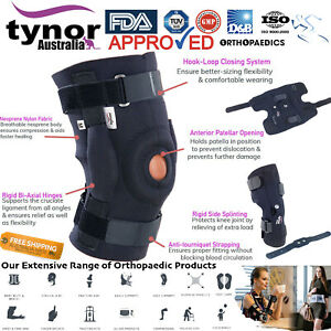 Neoprene Hinged Patella Knee Arthritis Support Brace Guard Post-Op Care Meniscus