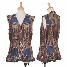 Jean-Paul GAULTIER Print Pleats Vest Size 9(K-47743)