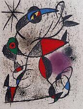 Joan MIRO (1893-1983) Original Lithographie auf Arches Bütten Paris 1972