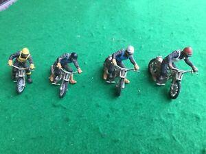 Speedway model riders x 4 Britains die cast metal