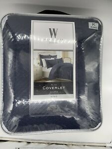 Wamsutta Bliss Quilted King Coverlet in Mauve