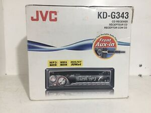 JVC Car Stereo Radio CD Receiver Player KD-G343 New In Box