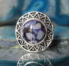 Anillo vintage estilo tíbet plata sonnenrad concha nácar, consigue lila violeta