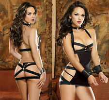 Sexy O Rings Catsuit Clubwear Outfits LINGERIE EXOTIC PARTY STRIPPER sex toys
