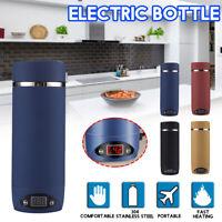 420ML Stainless Steel Electric Bottle Portable Travel Water Boiler Tea Kettle
