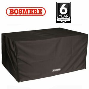Heavy Duty Rectangular Table Cover 6 Seat Large Waterproof UV Protection Black