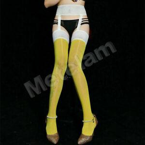 Women Suspender Garter Stockings Lace Sheer Oil Shiny Thigh High Socks Pantyhose
