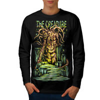 Creature Monster Horror Men Long Sleeve T-shirt NEW | Wellcoda