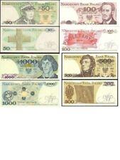 4 BANKNOTES FROM POLAND  - MINT UNC POLISH ZLOTY 50 100 500 1000 NEW