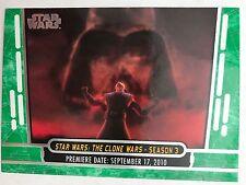 2017 Topps Star Wars 40th  #12 Star Wars: The Clone Wars - Season 3 GREEN