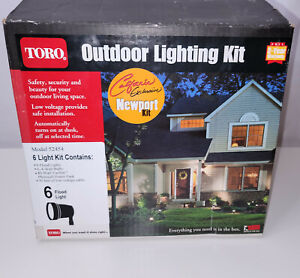 NOS Toro Outdoor Lighting Kit Low Voltage 6 Flood Lights w/ Power Pack USA 52454