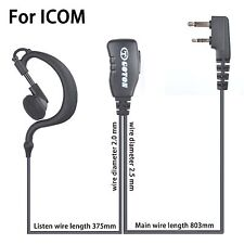 Earpiece Headset Earphone For ICOM IC- V8 V80 V80E V82 V85 F4021 Portable Radio