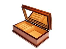 Wooden Brown Jewellery Box Mirror Gift Solution Home Decor