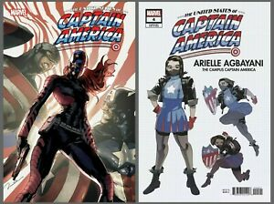 United States of Captain America #4 Cover A B Variant Set Options Presale 9/22