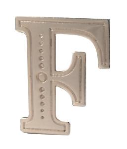 Letter F Nickel-Plated Orange Order Collarette Character