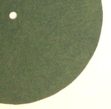 """Replacement Felt & Bumpers for Victor Victrola & Other Brands, 6.75"""", Med. Green"""