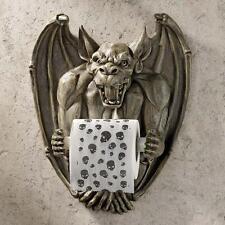 Medieval Gothic Gargoyle Guardian Sculptural Bathroom Toilet Tissue Holder