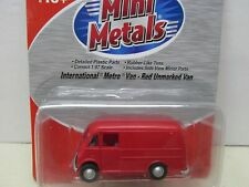 ~Mini Metals~ International Metro Van- Red Unmarked Van~ Ho Scale