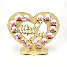 Rocher - Herz - Hochzeit - Display - Ständer aus Holz 22 cm Wir sagen Ja