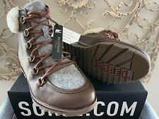 SOREL   Women's 7 US (5 UK) Burro Leather Harlow Lace Cozy Shearling Bootie Shoe