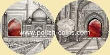 PALAU 2014 Taj Mahal Mineral Art $10 2oz Ag UNC CoA #B2