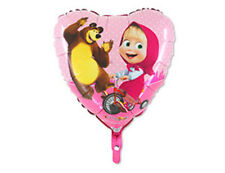 metal inflatable balloon Masha and the Bear holiday party favors balls Supplies