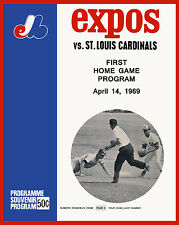 Montreal Expos First Opening Day Poster of Game Program- 8x10 Photo