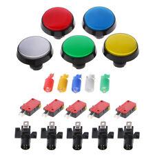5 Pcs/Set 60mm Round Push Button Switch For Game Player Arcade Joystick P&C