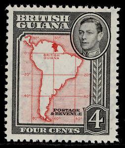 BRITISH GUIANA GVI SG310, 4c scarlet, NH MINT.