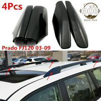 4Pcs Roof Rack Bar Rail End Cover Shell Cap For Toyota Land Cruiser Prado FJ120!