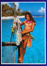 Nude Topless Tahiti Tahitian Hawaii Hawaiian Hula Polynesian Islander Girl PC #2