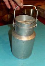 Ancien pot à lait aluminium fer blanc Tournus France 2 litres Vintage