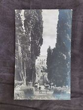 Vintage Postcard: Villa d'Este Italy posted 1920 from Roma Centro